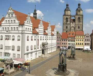 View of the Market Place in Wittenberg